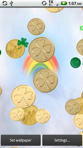 【免費個人化App】Shamrocks and Coins Live-APP點子