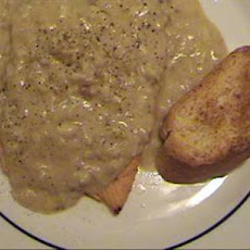 Salmon Filets With Creamy, White Wine/Crab-Meat Sauce