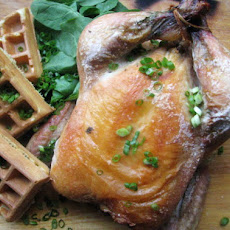 Sunday Supper: Roast Chicken with Herb Waffles