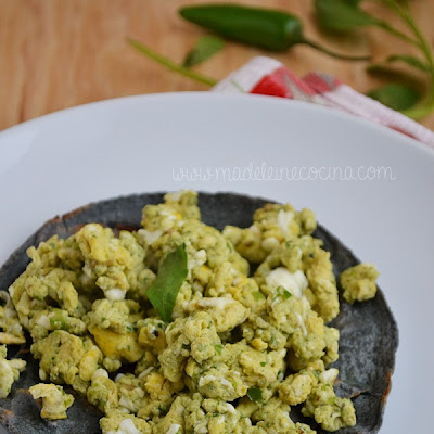 Eggs with Coriander and Serrano Chili