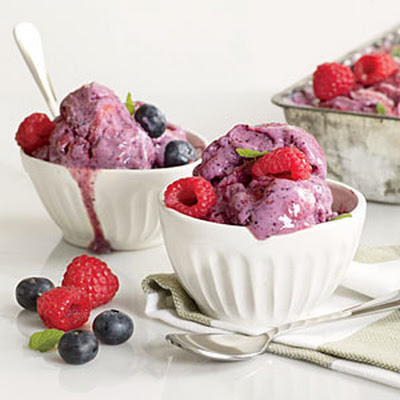 Quick Berry Frozen Yogurt