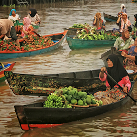 Floating Markets by Nyimas  Nurul - City,  Street & Park  Markets & Shops