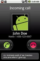 Screenshot of Caller Info - ID: Call Area
