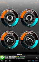 Screenshot of Weather Clock