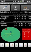 Screenshot of Android Cricket Scorer+