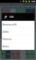 Screenshot of ShiftCalendar