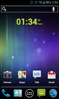 Screenshot of Clean Clock Widget