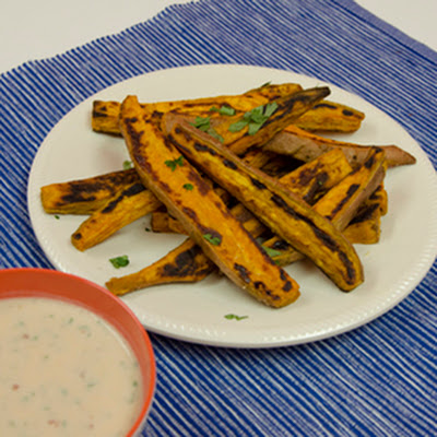 Sweet Potato Fries with Kefir Chipotle Dipping Sauce
