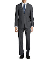 Hugo Boss Paolini Windowpane Check Suit, Dark Gray - (44S)