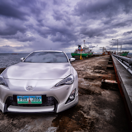 Toyota 86 by Ferdinand Ludo - Transportation Automobiles ( overcast day, toy 86, cloudy, wharf )