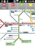 Screenshot of Milan Metro