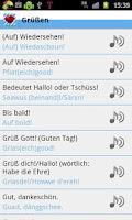 Screenshot of Bayrisch für Anfänger
