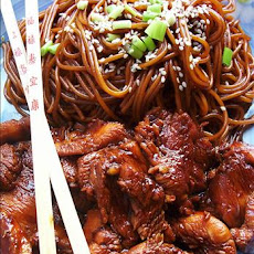 Funky Chicken With Sesame Noodles