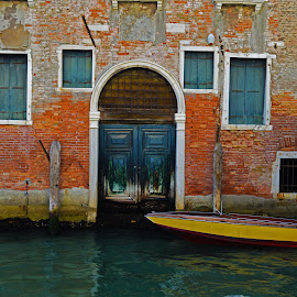Decaying Doors by Marieke Fechner - Buildings & Architecture Architectural Detail ( water, doors, venice, boat, decaying, canal,  )