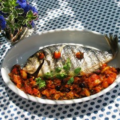 Sea Bream with Mediterranean Sauce