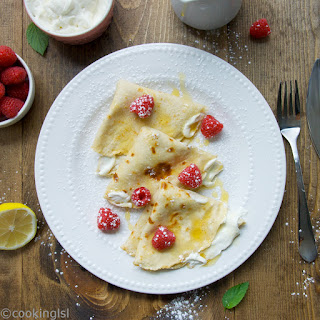 Almond Oat Cheesecake Filled Crepes
