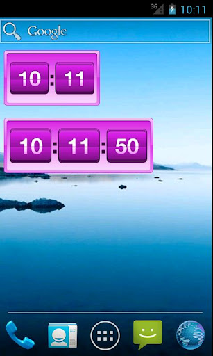Retro Violet Clock Pro