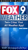 Screenshot of FOX9 Weather