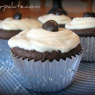 Chocolate Fudge Jr Mint Centered Cupcakes