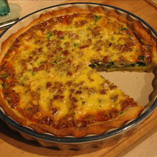 Spinach, Roquefort and Walnut Quiche