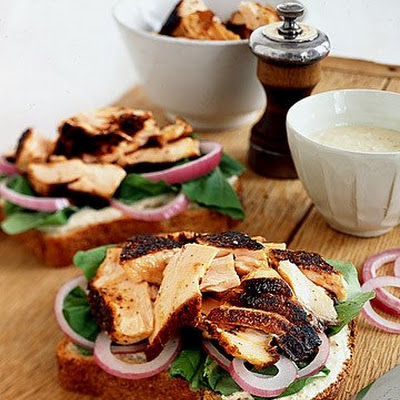 Blackened Salmon Sandwiches