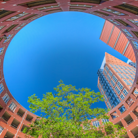 The Oval by Huub Keulers - Buildings & Architecture Homes ( building, sky, blue, round, architecture, circle, oval )
