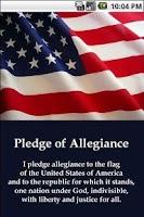 Screenshot of Pledge of Allegiance