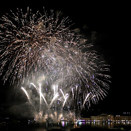 160yo happy  day Ischia Harbour by Lia Mazze - News & Events Entertainment ( water, harbour, ischia, fireworks, rain )