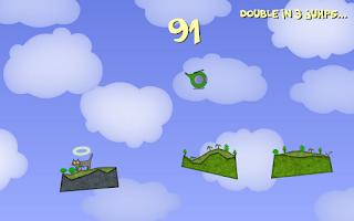 Screenshot of Kitty Rocks! Jumping cat game