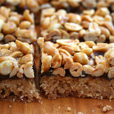 Sticky Peanut Cookie Bars