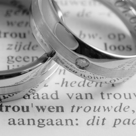 ... trouwen... (getting married) by Anneke Reiss - Wedding Details ( bands, trouwen, words, wedding, rings, dictionary, marriage, print )