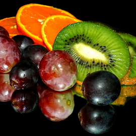 orange,kiwi,grape by LADOCKi Elvira - Food & Drink Fruits & Vegetables