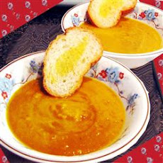 Spicy Pumpkin and Sweet Potato Soup