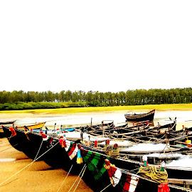 Return Home by Ayan Mukherjee - Transportation Boats