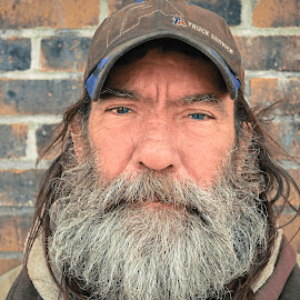 Faces of America | Jeff by Garrison Strahan - People Portraits of Men ( faces, homeless, beard, alabama, eyes )