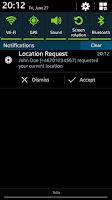 Screenshot of Share Where - Location Sharing