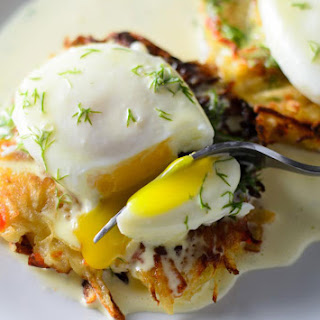 Homemade Hash Browns with Eggs Benedict