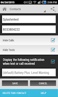 Screenshot of Hide Text SMS & Calls