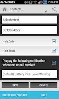 Screenshot of Hide Text SMS & Calls
