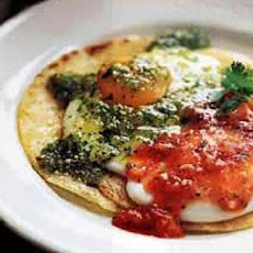 Fried Eggs on Corn Tortillas with Two Salsas (Huevos Divorciados)