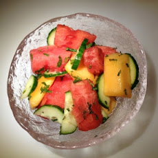 Minted Melon-Cucumber Salad