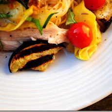 Summer Chicken & Eggplant Pasta
