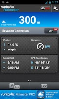 Screenshot of Runtastic Altimeter & Compass