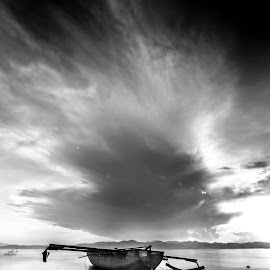 Ready to go by Nandy Rery - Landscapes Cloud Formations ( black and white, b&w, landscape )