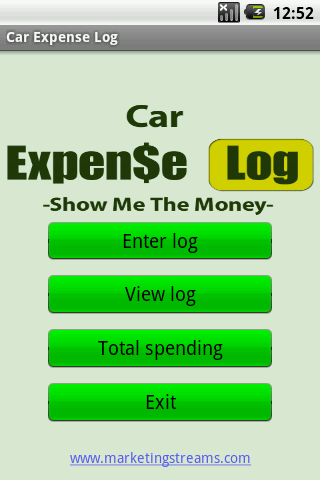 Car Expense Log