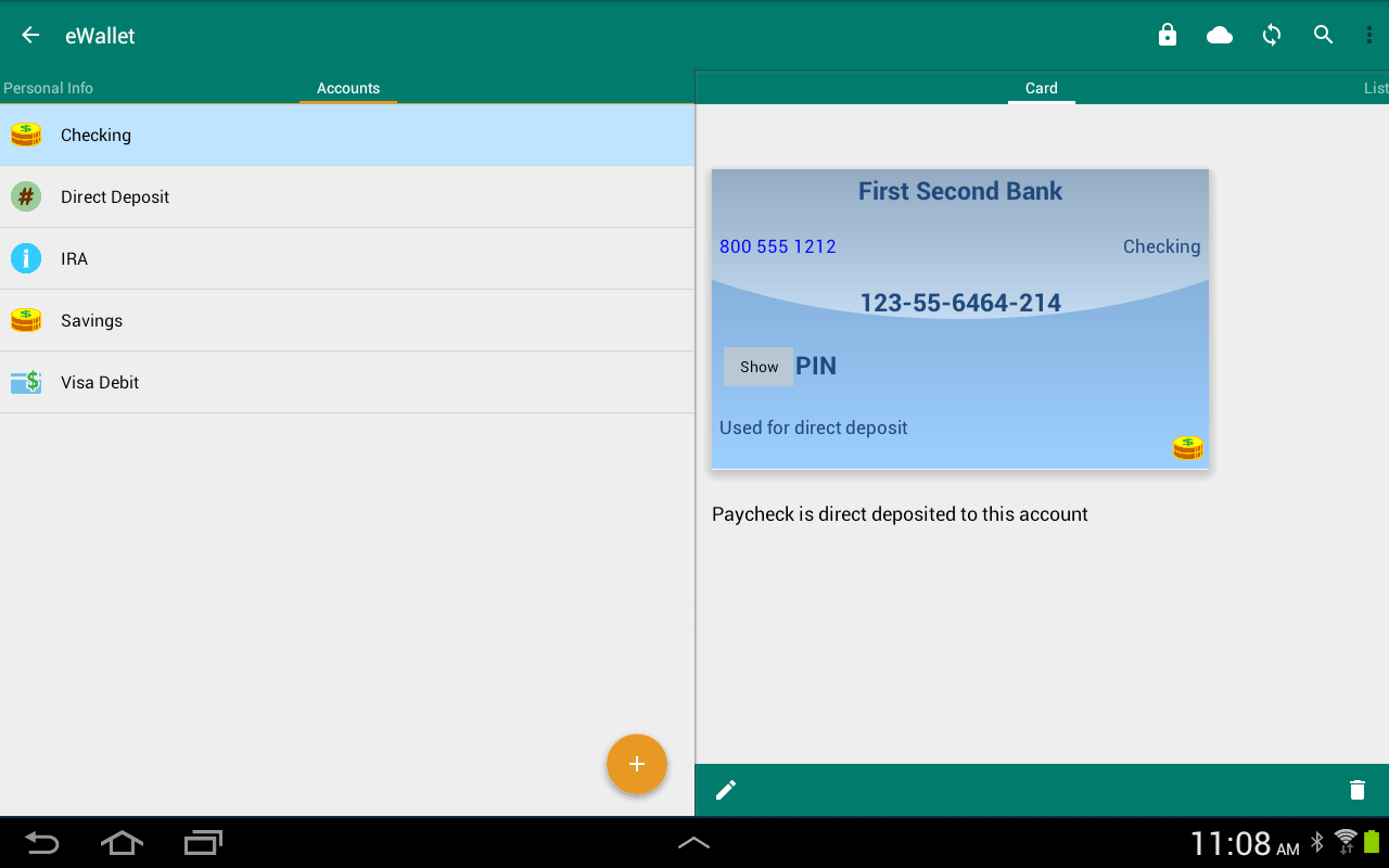 eWallet - Password Manager Screenshot 12