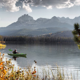 Little Redfish Lake. by Dave Bower - Landscapes Waterscapes