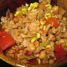 Pork and Black Eyed Pea Chili
