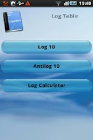 Screenshot of Log Table & Calculator
