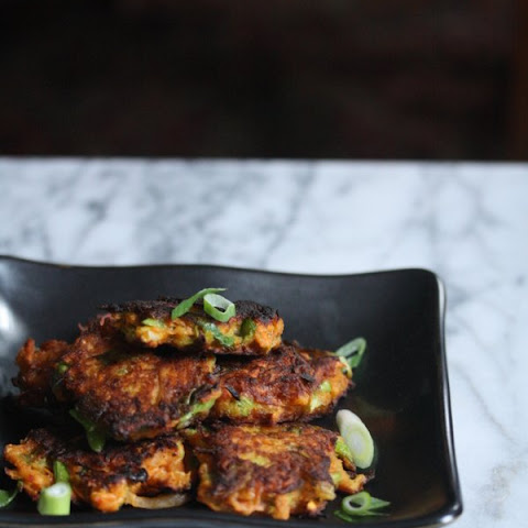 Gluten-Free Sweet Potato Latkes with Scallions and Kimchi